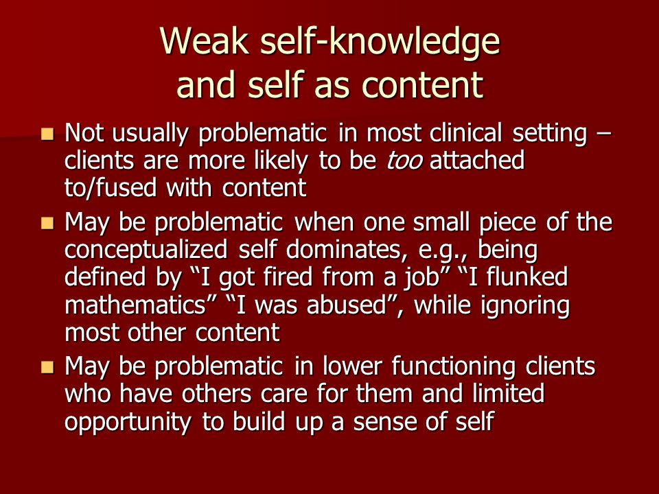 Weak self-knowledge and self as content