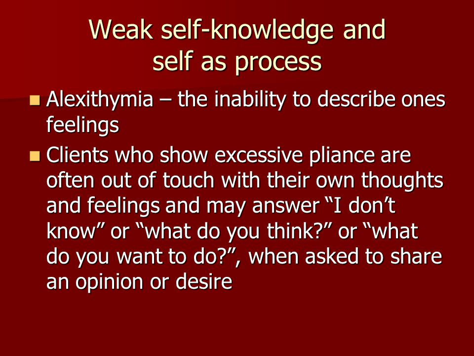 Weak self-knowledge and self as process