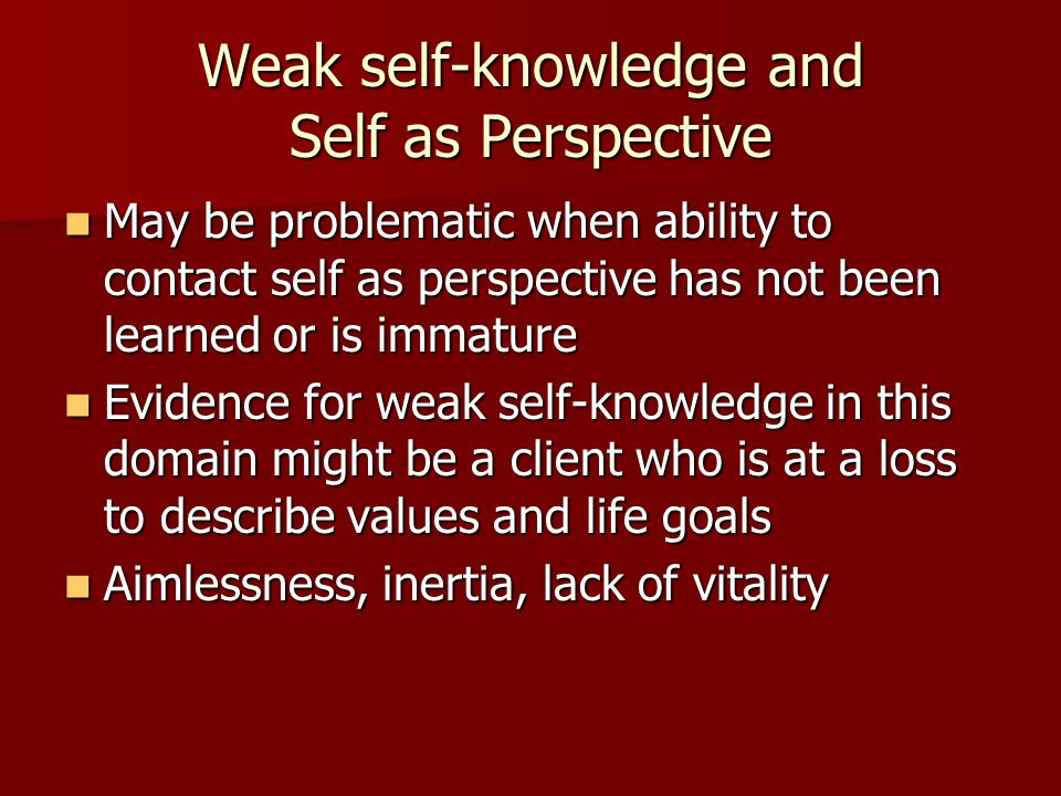 Weak self-knowledge and Self as Perspective