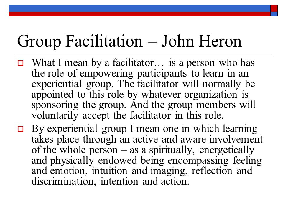Group Facilitation – John Heron