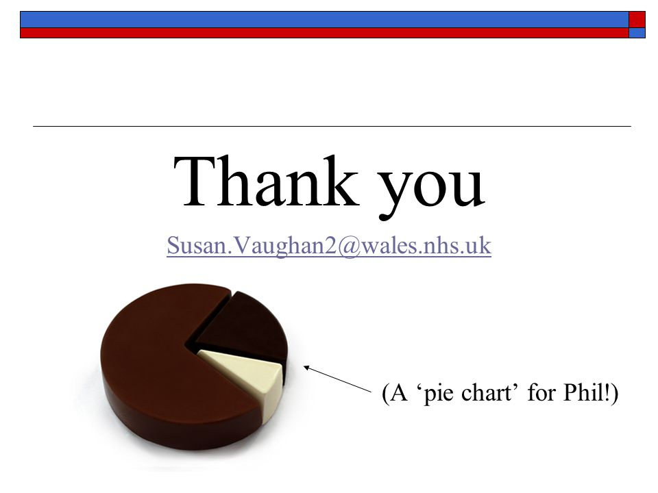 Thank you Susan.Vaughan2@wales.nhs.uk (A 'pie chart' for Phil!)