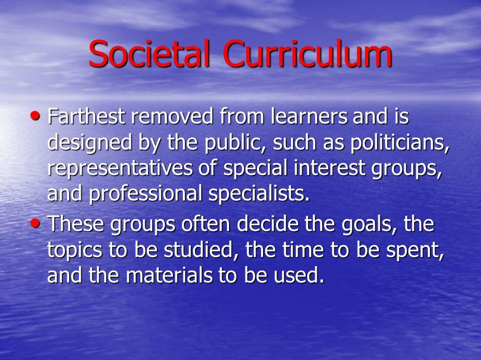 Societal Curriculum