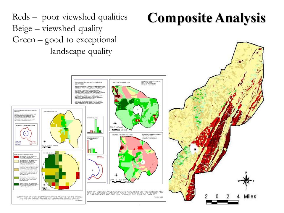 Composite Analysis Reds – poor viewshed qualities