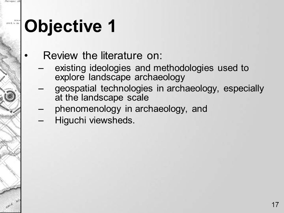 Objective 1 Review the literature on: