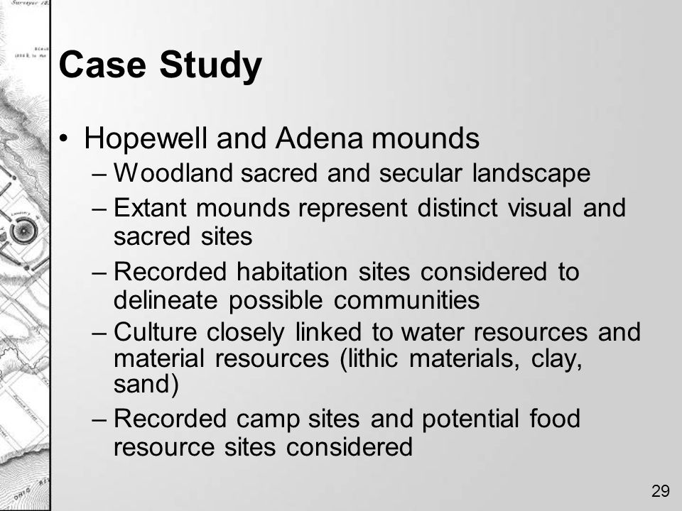 Case Study Hopewell and Adena mounds