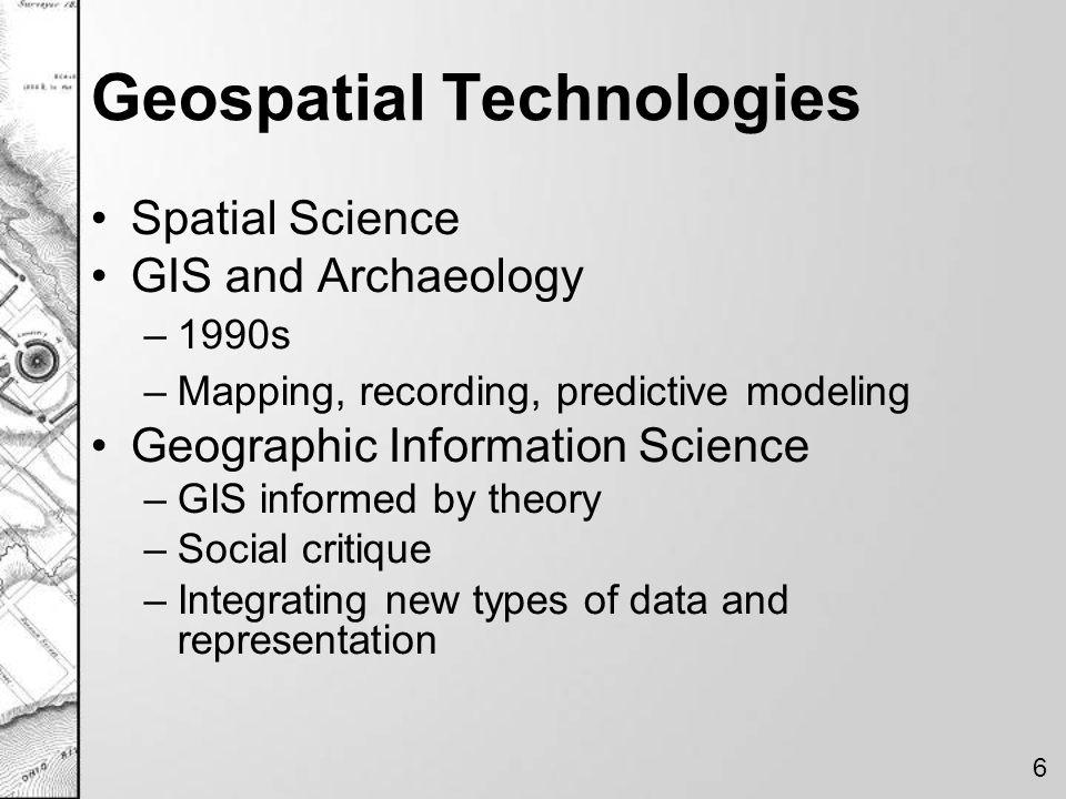 Geospatial Technologies