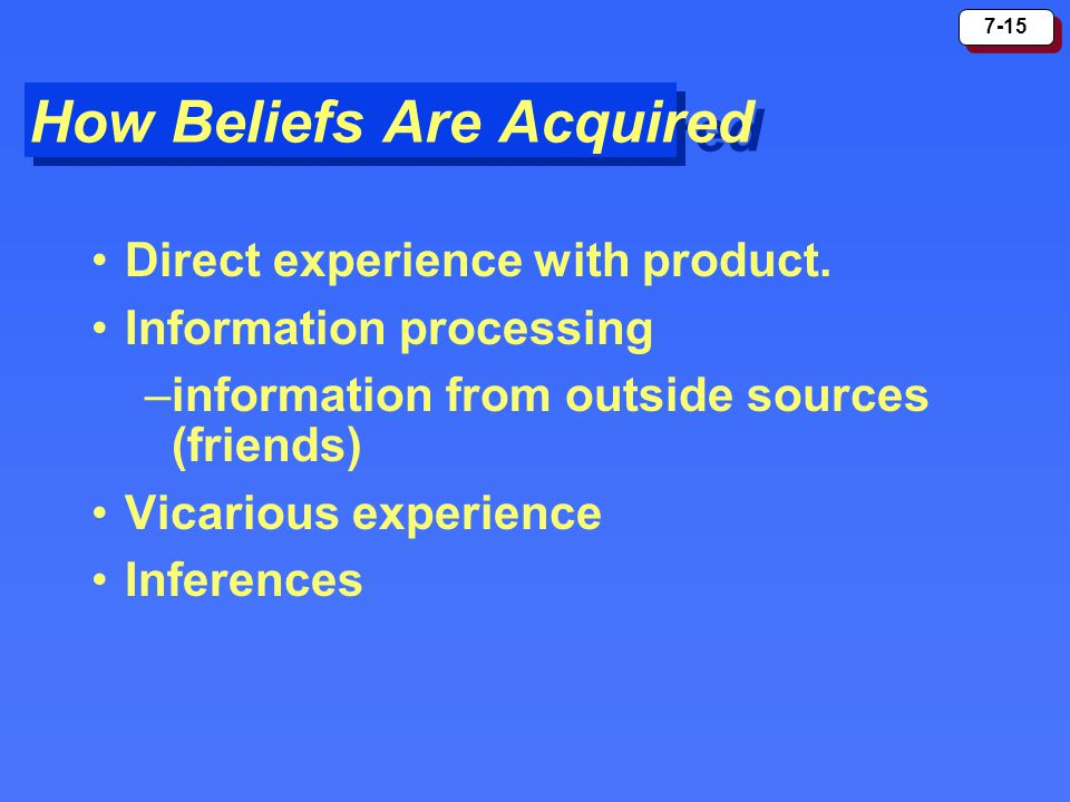 How Beliefs Are Acquired