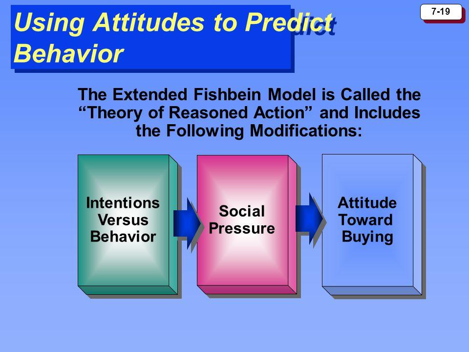 Using Attitudes to Predict Behavior