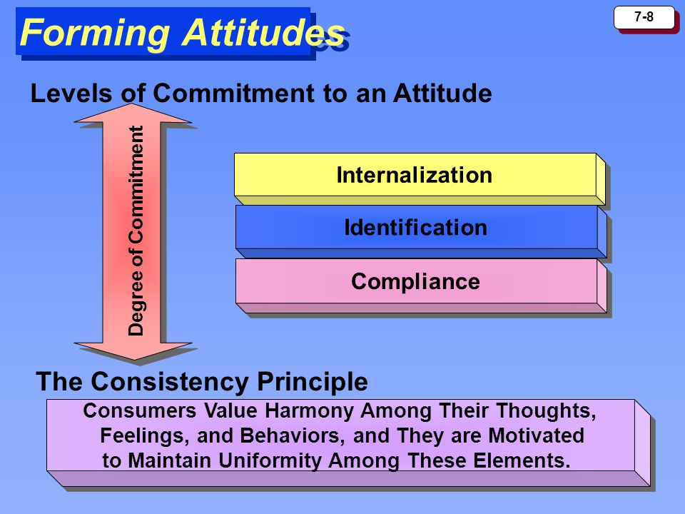 Forming Attitudes Levels of Commitment to an Attitude