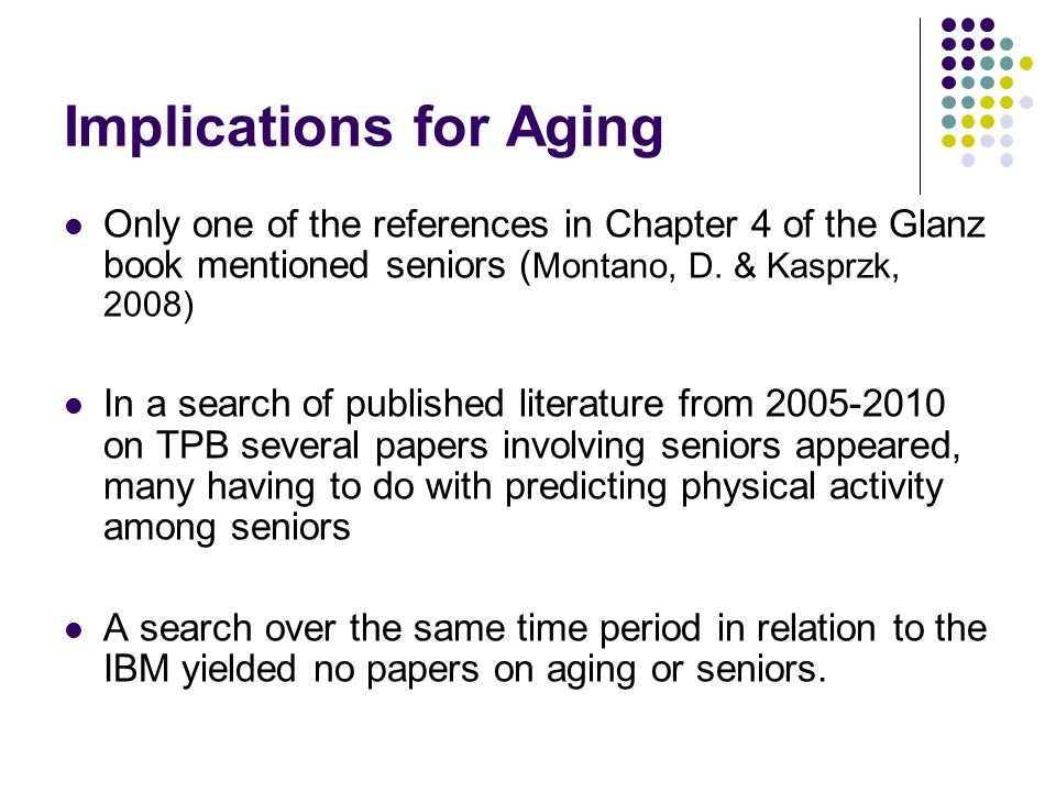 Implications for Aging