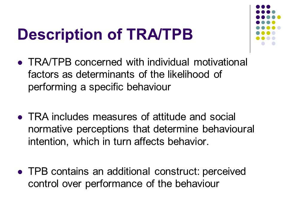 Description of TRA/TPB