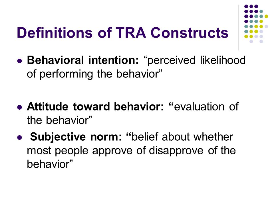 Definitions of TRA Constructs