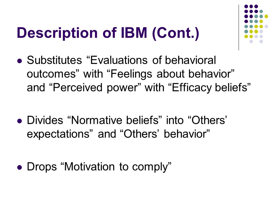 Description of IBM (Cont.)