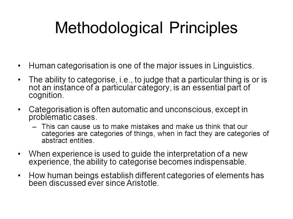 Methodological Principles