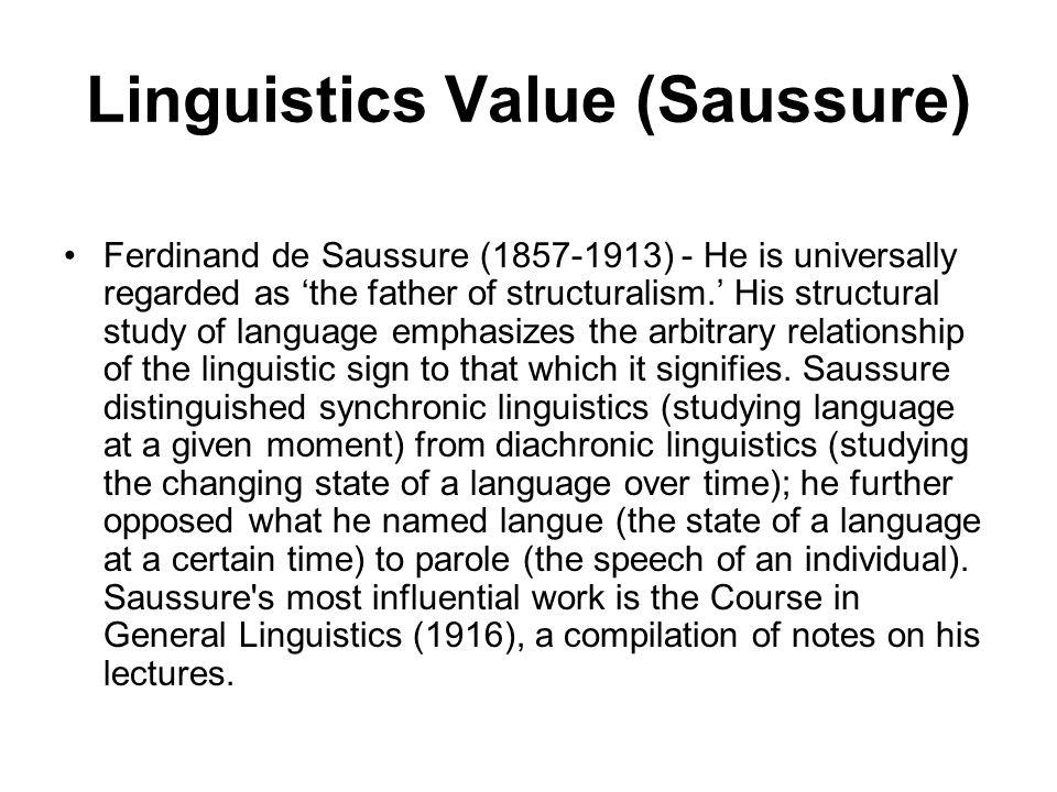 Linguistics Value (Saussure)