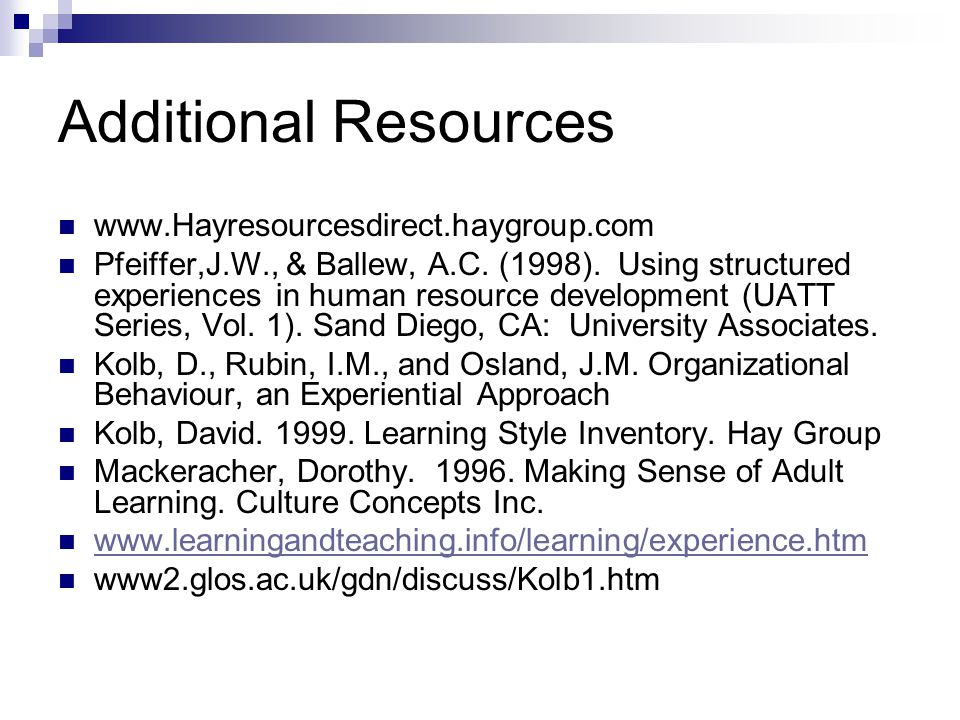 Additional Resources www.Hayresourcesdirect.haygroup.com