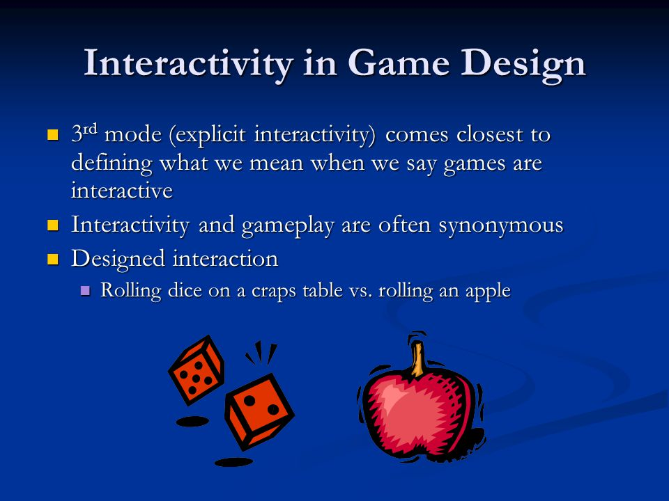 Interactivity in Game Design