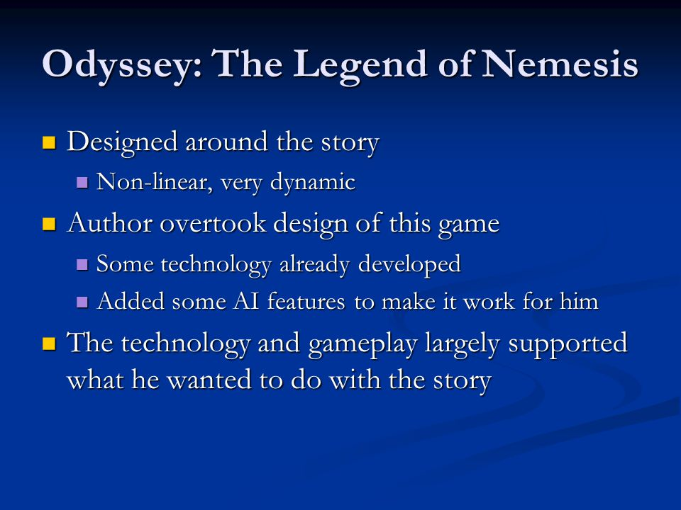 Odyssey: The Legend of Nemesis