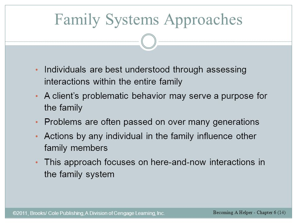 Family Systems Approaches
