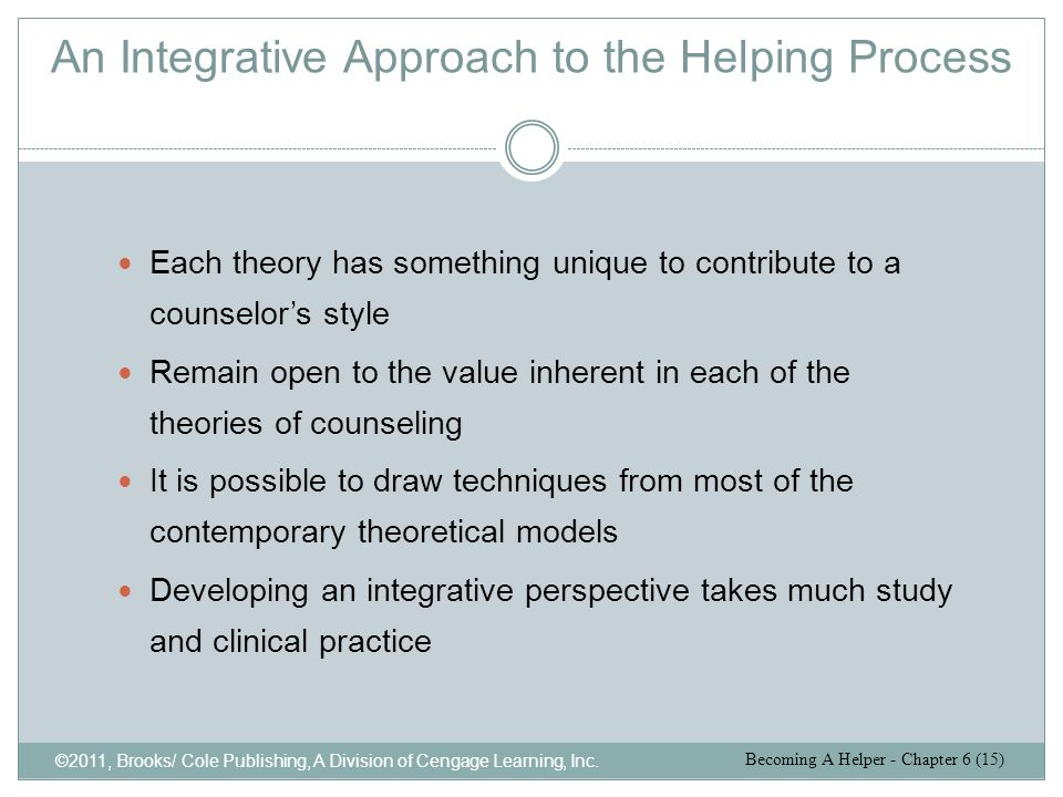 An Integrative Approach to the Helping Process
