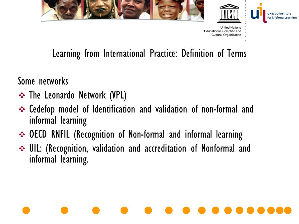Learning from International Practice: Definition of Terms