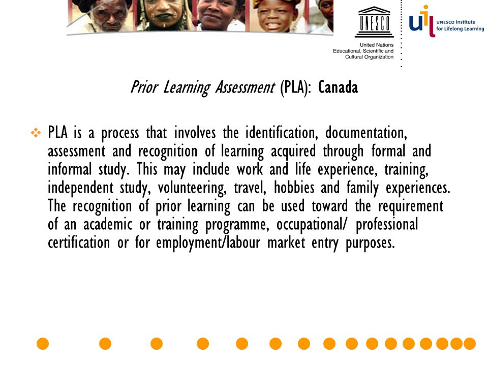 Prior Learning Assessment (PLA): Canada