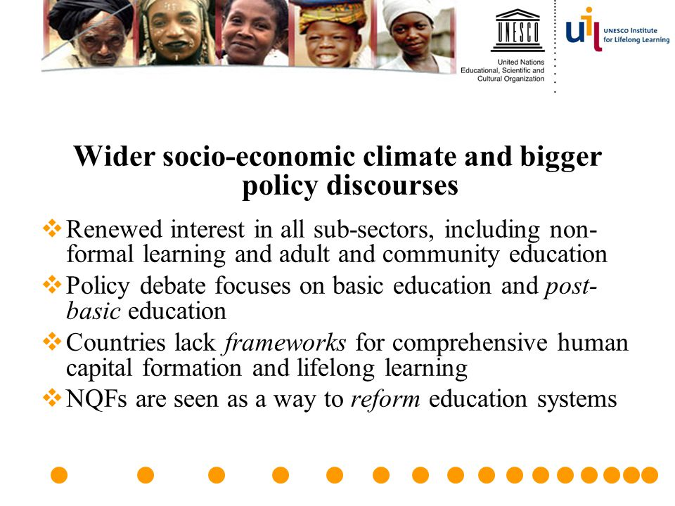 Wider socio-economic climate and bigger policy discourses
