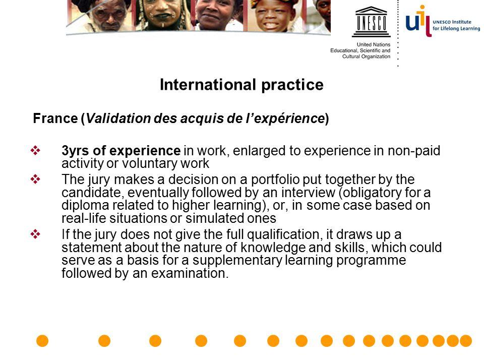 International practice