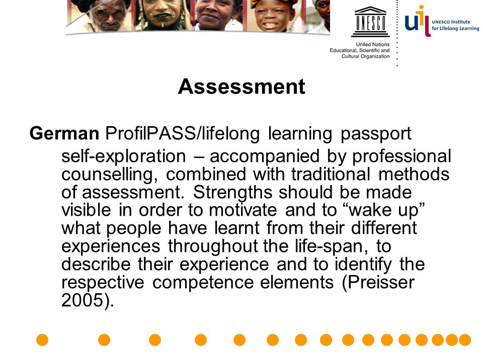 Assessment German ProfilPASS/lifelong learning passport