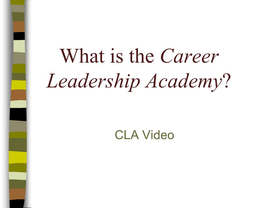 What is the Career Leadership Academy