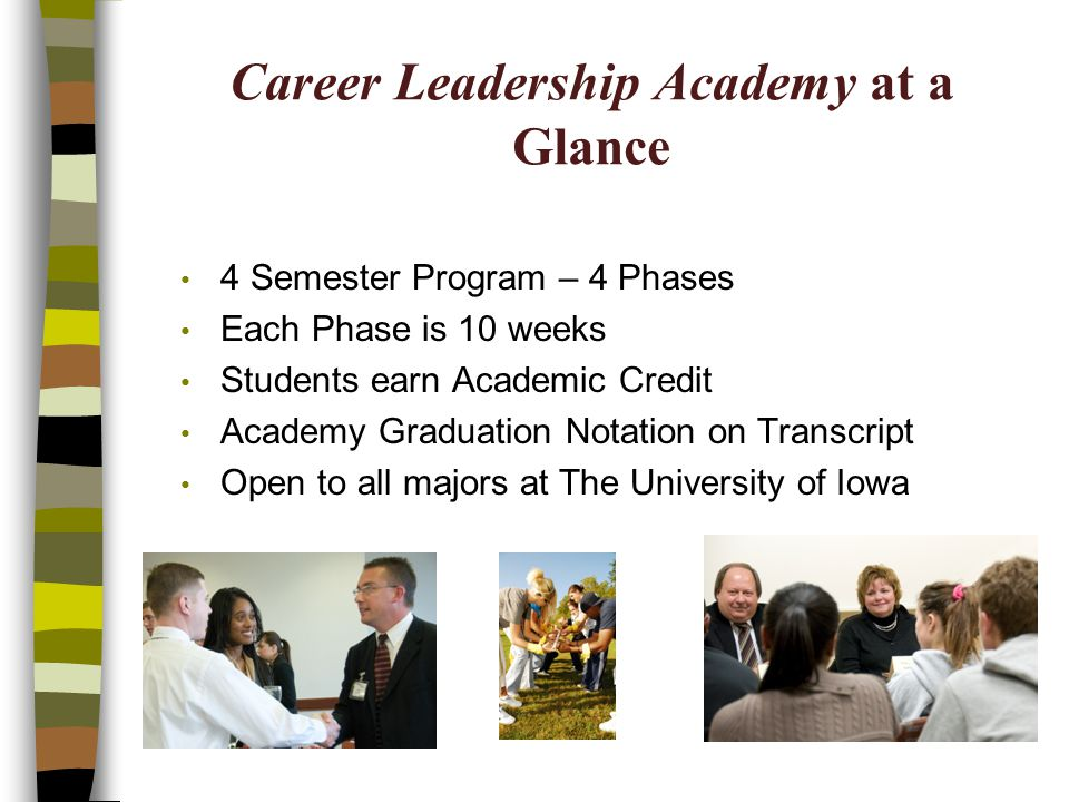 Career Leadership Academy at a Glance