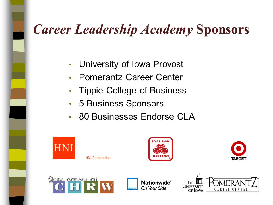 Career Leadership Academy Sponsors