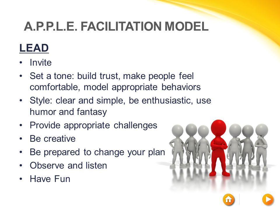 A.P.P.L.E. Facilitation Model