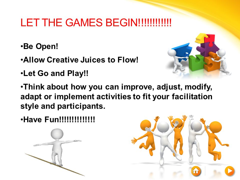 LET THE GAMES BEGIN!!!!!!!!!!!! Be Open!