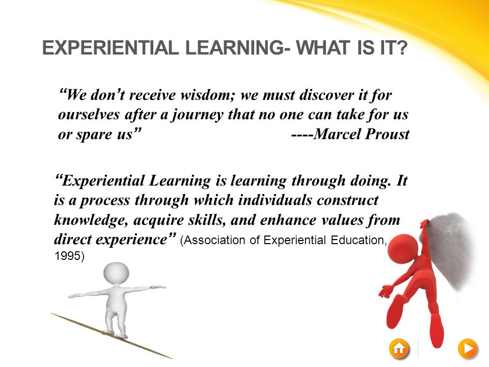 Experiential Learning- What is it