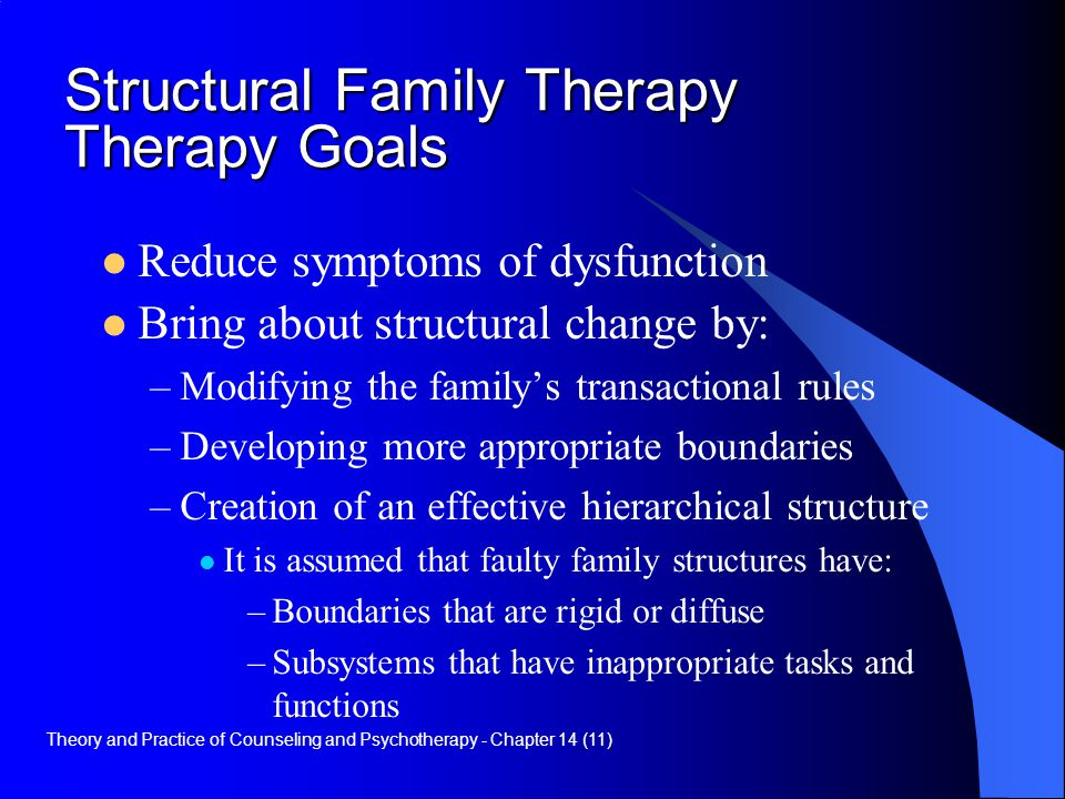 Structural Family Therapy Therapy Goals