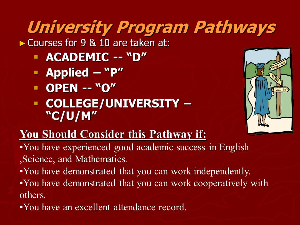 University Program Pathways