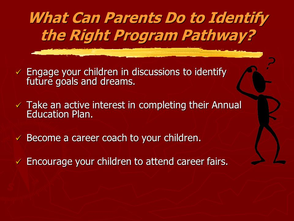 What Can Parents Do to Identify the Right Program Pathway