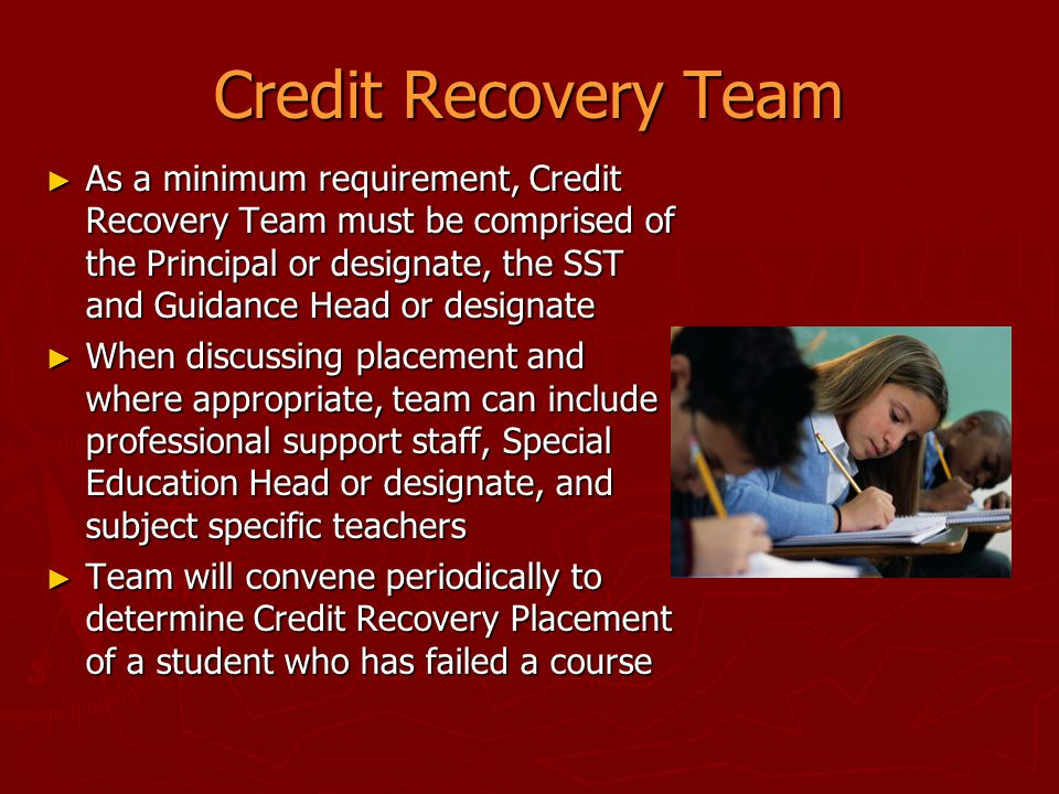 Credit Recovery Team