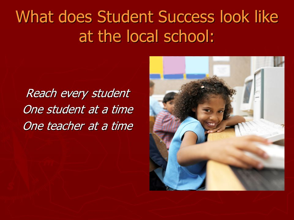 What does Student Success look like at the local school: