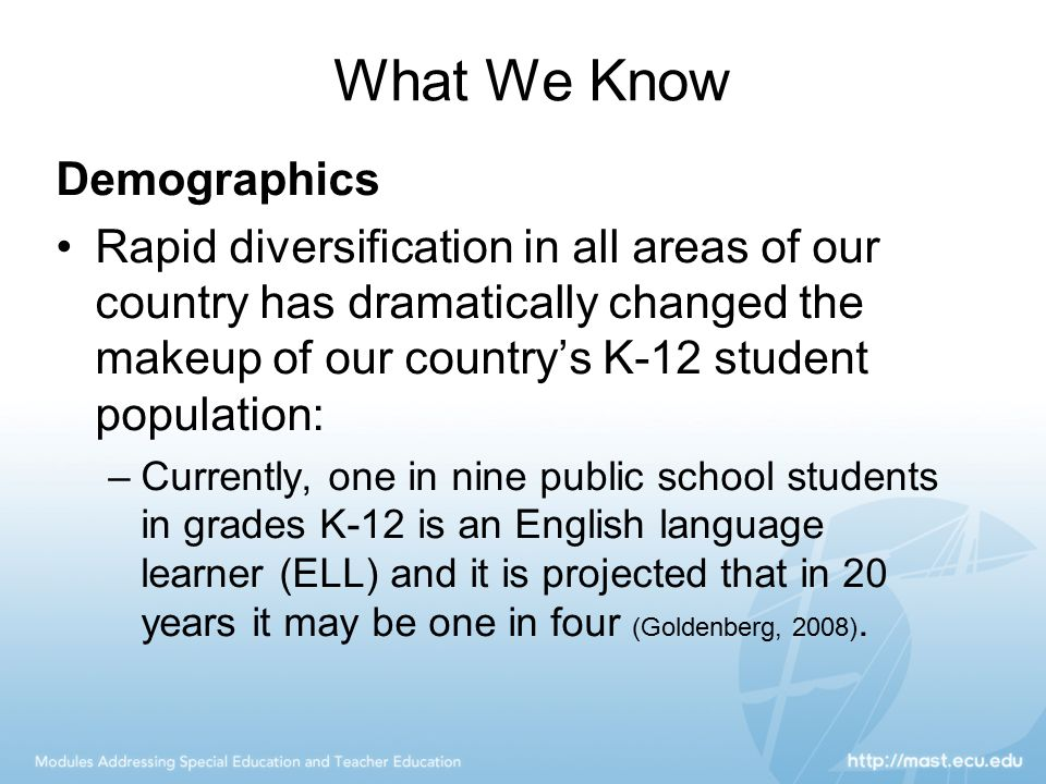 What We Know Demographics