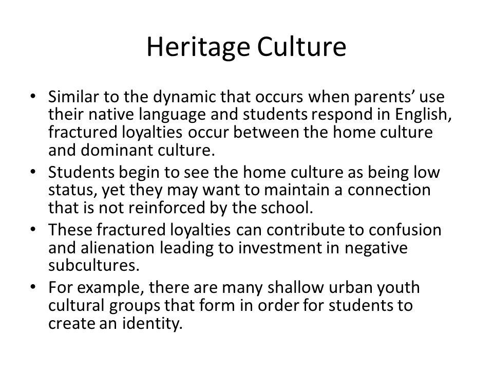 Heritage Culture