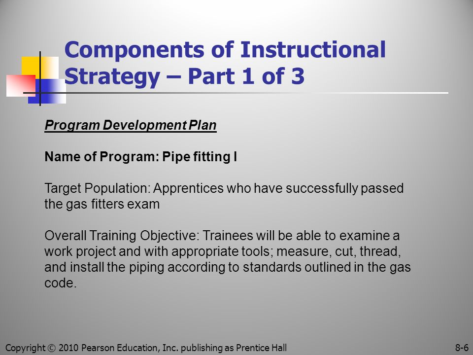 Components of Instructional Strategy – Part 1 of 3