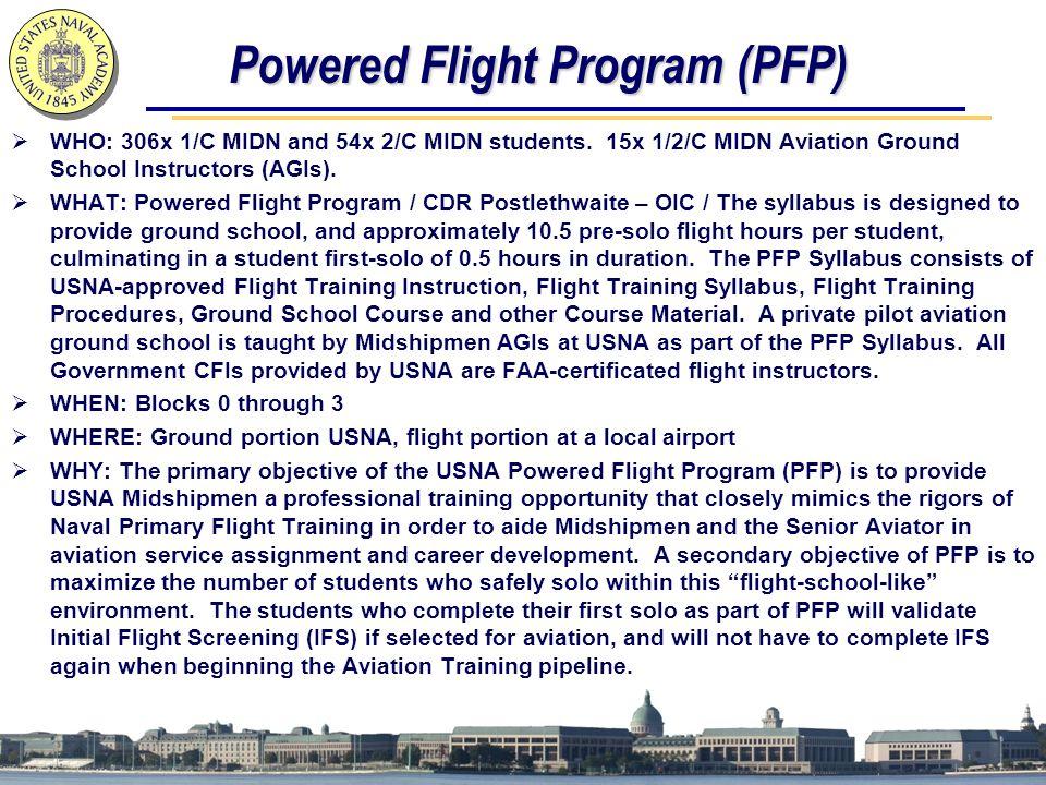 Powered Flight Program (PFP)