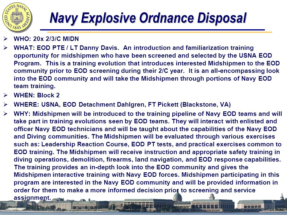 Navy Explosive Ordnance Disposal
