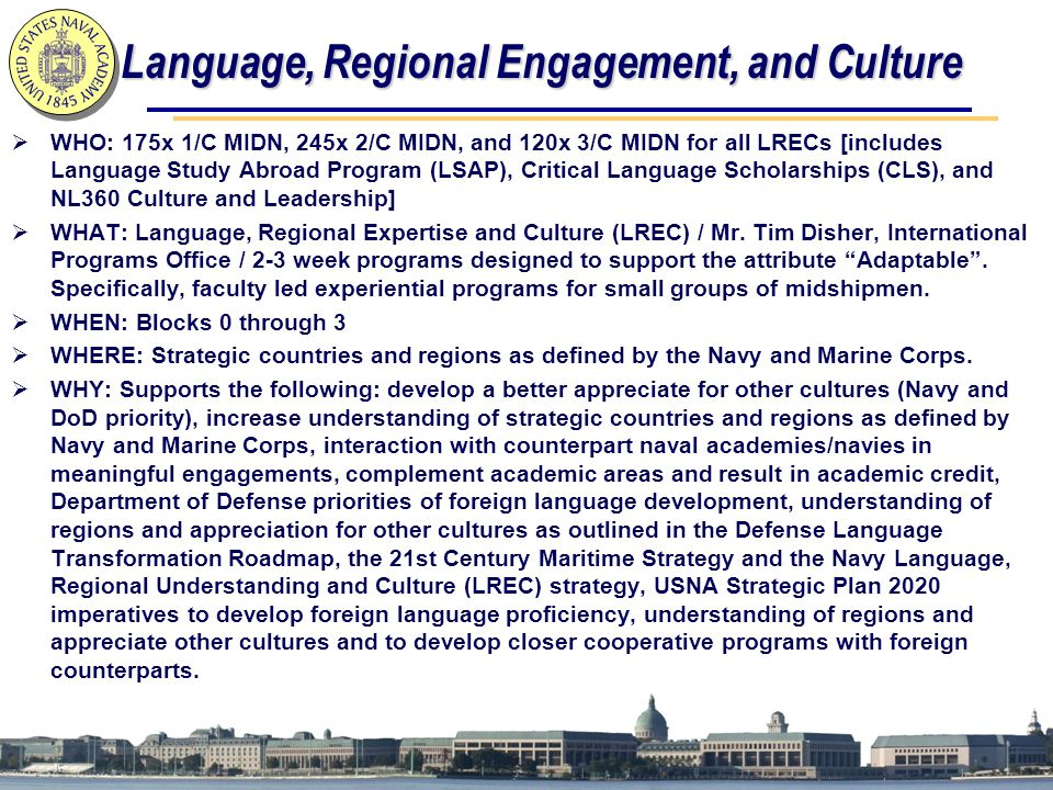 Language, Regional Engagement, and Culture