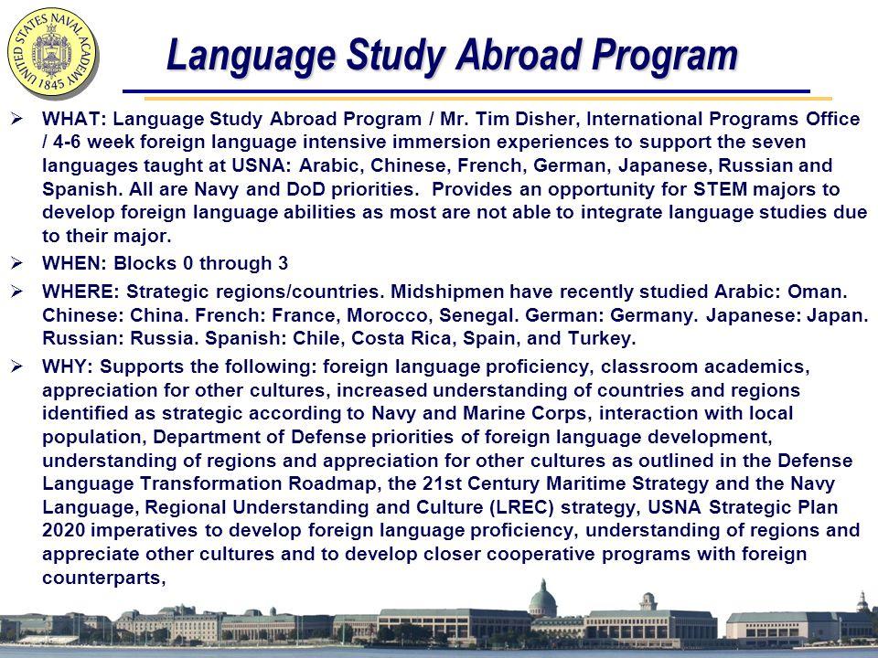 Language Study Abroad Program