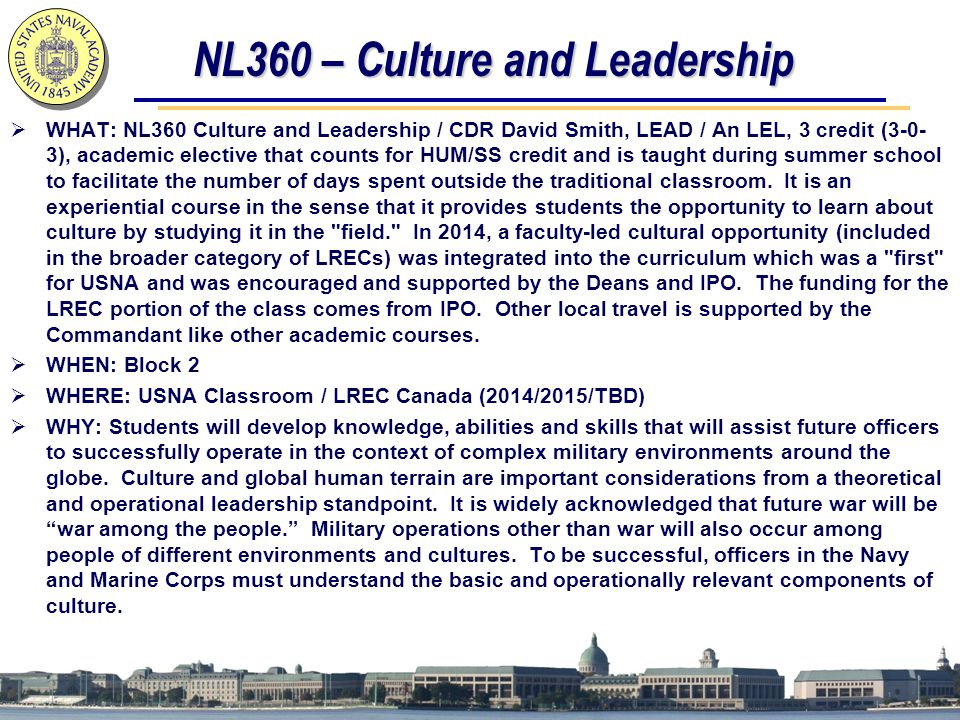 NL360 – Culture and Leadership