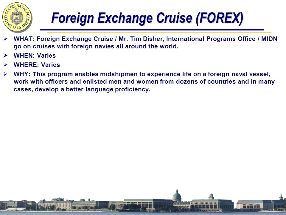 Foreign Exchange Cruise (FOREX)