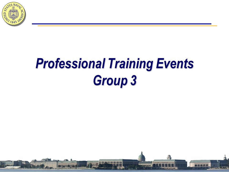 Professional Training Events Group 3